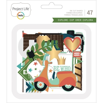 Becky Higgins American Crafts Project Life EXPLORE 4 x 4 Die Cut Card 380614