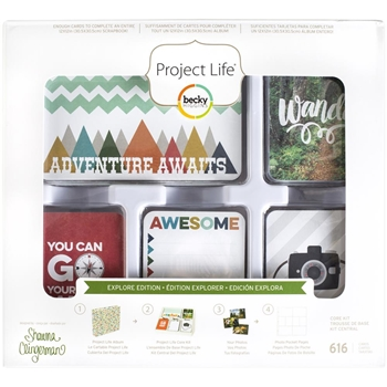 Becky Higgins American Crafts Project Life EXPLORE EDITION Core Kit 380611*