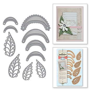 S6-047 Spellbinders STACK AND FAN FLOWERS Die Set