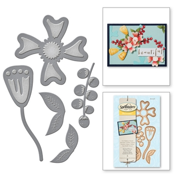 S3-228 Spellbinders STYLIZED FLOWER Die Set