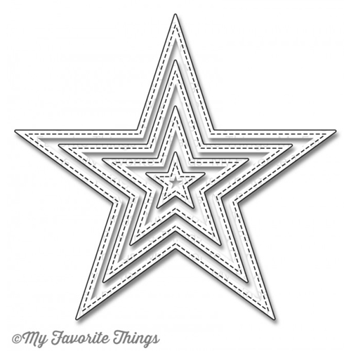 My Favorite Things STITCHED STAR STAX Die-Namics MFT774 Preview Image