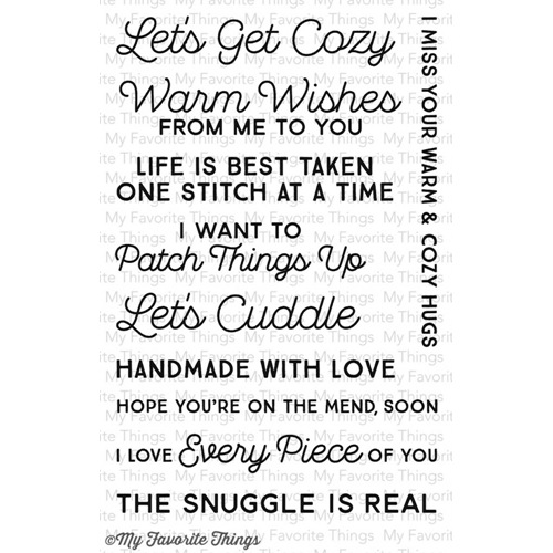 My Favorite Things LETS GET COZY Clear Stamps CS92* Preview Image