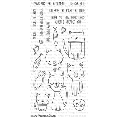 My Favorite Things CAT-ITUDE Clear Stamps CS89 Preview Image