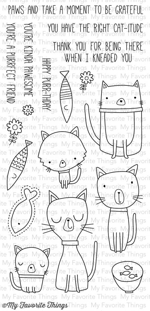 My Favorite Things CAT-ITUDE Clear Stamps CS89 zoom image