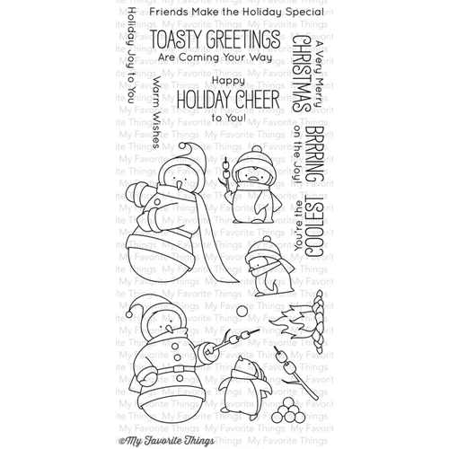 My Favorite Things TOASTY GREETINGS Clear Stamps BB27 Preview Image