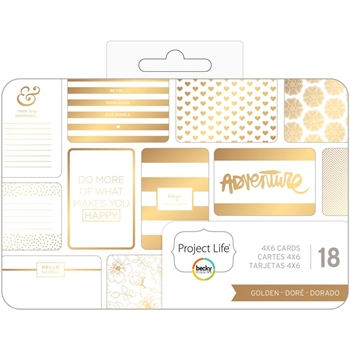 Becky Higgins American Crafts Project Life GOLDEN Themed Cards 380606
