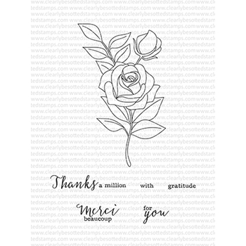 Clearly Besotted MERCI BEAUCOUP Clear Stamp Set