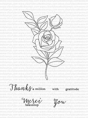 Clearly Besotted MERCI BEAUCOUP Clear Stamp Set  zoom image