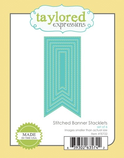 Taylored Expressions STITCHED BANNER STACKLETS Die Set TE722 zoom image