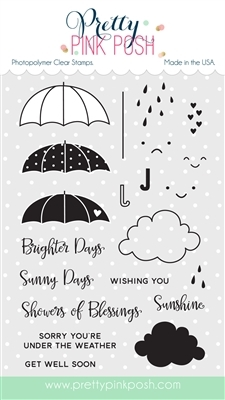 Pretty Pink Posh RAINY DAYS Clear Stamp Set PPPS003 zoom image