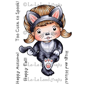 La-La Land Crafts Cling Stamp SITTING CAT MARCI 5264