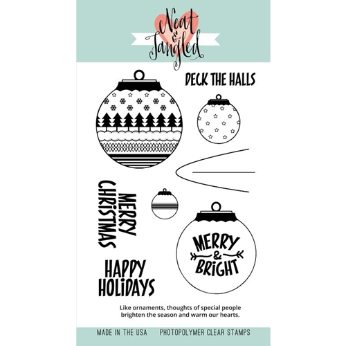 Neat and Tangled HAPPY ORNAMENTS Clear Stamp Set * Preview Image