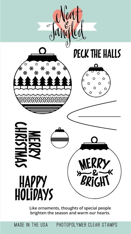 Neat and Tangled HAPPY ORNAMENTS Clear Stamp Set * zoom image