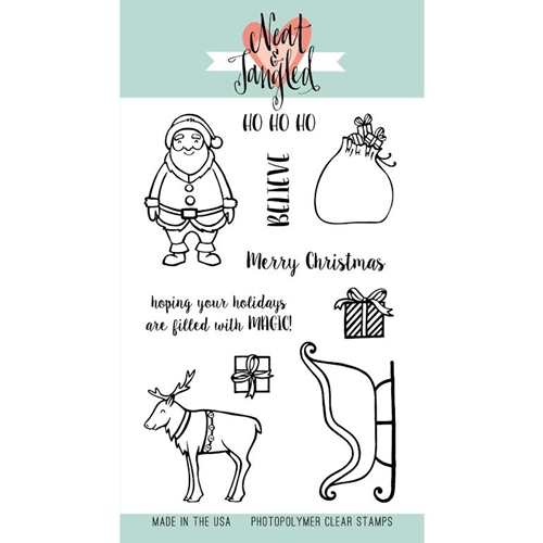 Neat and Tangled SANTAS RIDE Clear Stamp Set*  Preview Image
