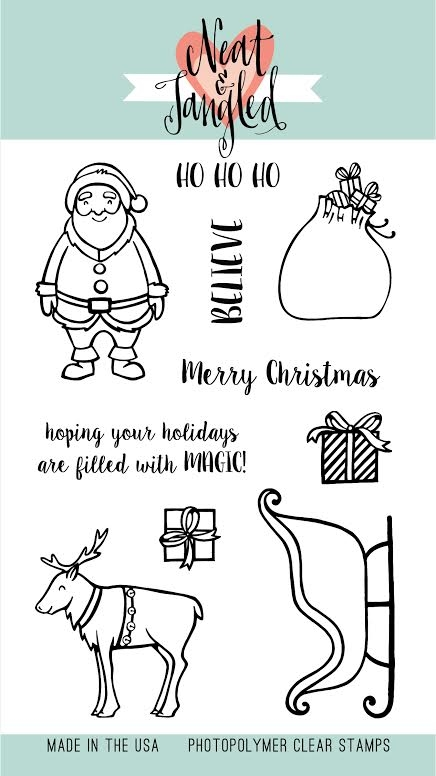 Neat and Tangled SANTAS RIDE Clear Stamp Set*  zoom image