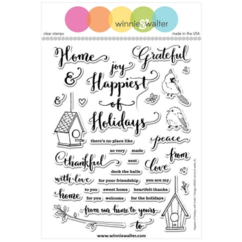 Winnie and Walter HAPPIEST OF HOLIDAYS EVELIN T DESIGNS Clear Stamps WW049