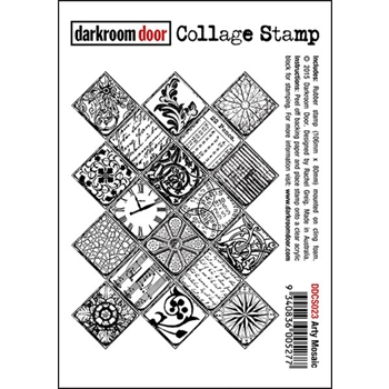 Darkroom Door Cling Stamp ARTY MOSAIC Collage Rubber UM DDCS023