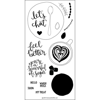 Concord & 9th LET'S CHAT Clear Stamp Set 10034C9