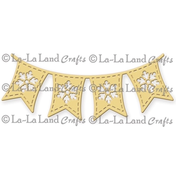 La-La Land Crafts SNOWFLAKE FLAG BANNER Die Set 8152