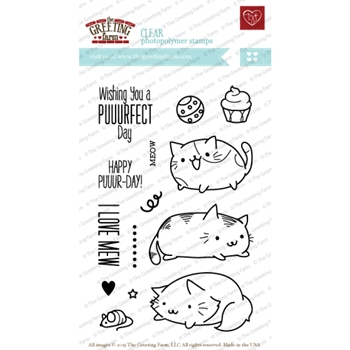 The Greeting Farm PURFECT CATS Clear Stamps TGF214