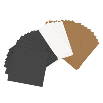 Sizzix PAPER LEATHER SHEETS ASSORTED BASICS 6x6 Paper 661146