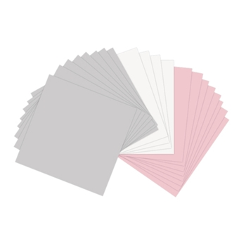 Sizzix PAPER LEATHER SHEETS ASSORTED PASTELS 6x6 Paper 661147