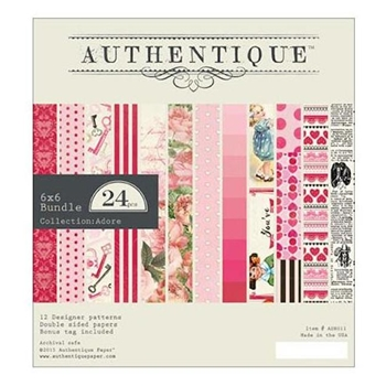 Authentique 6 x 6 ADORE Paper Pad ADR011