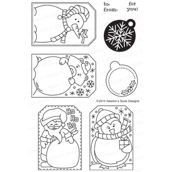 Newton's Nook Designs JOLLY TAGS Clear Stamp Set 20151101