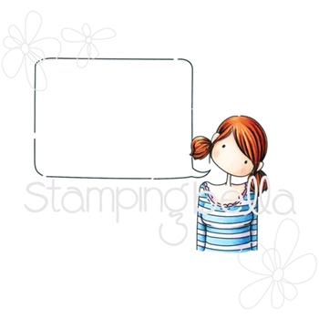 Stamping Bella Cling Stamp TINY TOWNIE ANABELLE NEEDS YOUR ADDRESS Rubber UM eb351