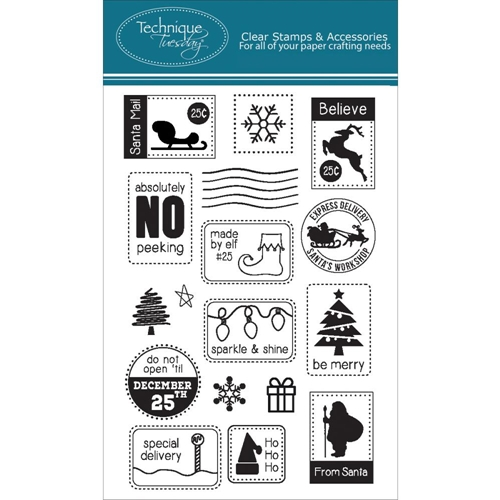 Technique Tuesday SANTA MAIL Clear Stamps 02267 Preview Image