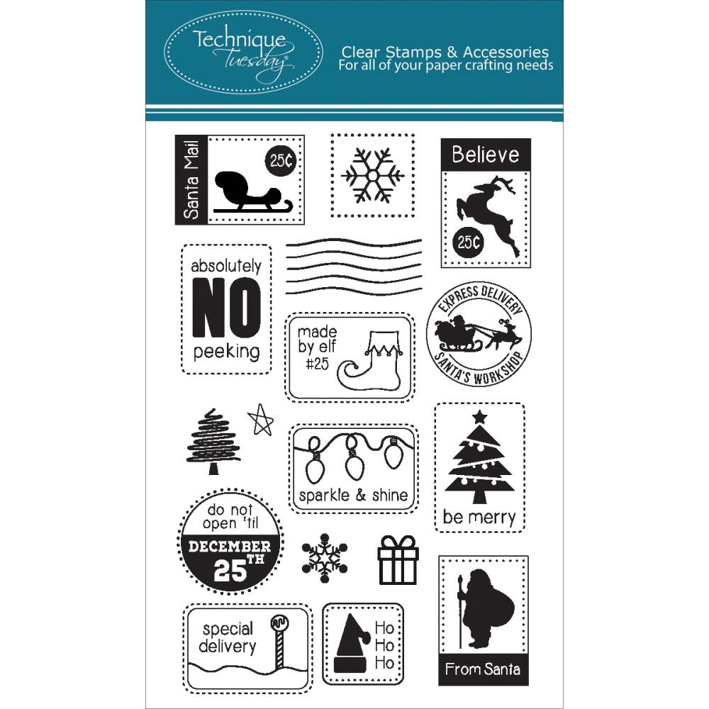 Technique Tuesday SANTA MAIL Clear Stamps 02267 zoom image
