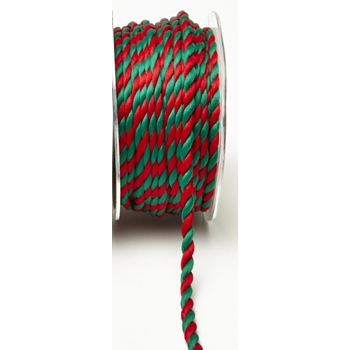 May Arts RED AND GREEN Twisted Rope Ribbon RJ415