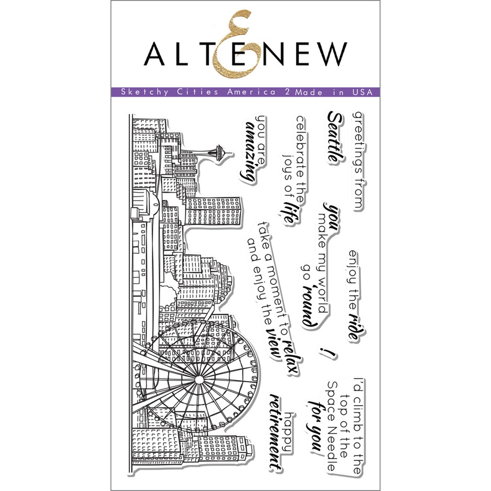 Altenew SKETCHY CITIES AMERICA 2 Clear Stamp Set ALT1110 zoom image