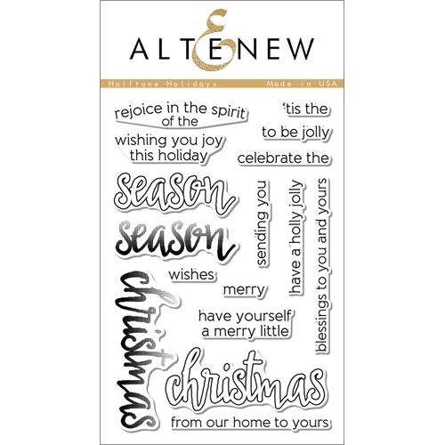 Altenew HALFTONE HOLIDAYS Clear Stamp Set ALT1064 Preview Image