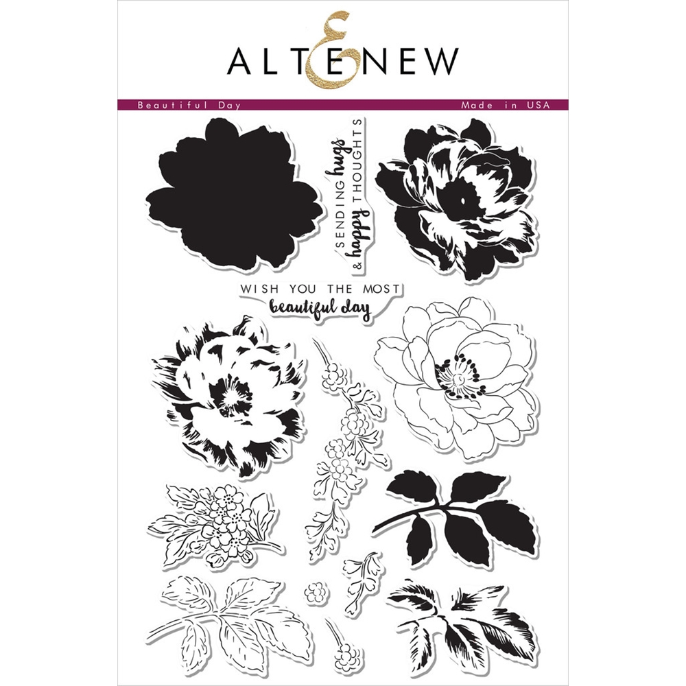 Altenew BEAUTIFUL DAY Clear Stamp Set ALT1023 zoom image