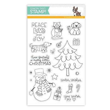 Simon Says Clear Stamps PEACE LOVE AND JOY sss101601 From All Of Us