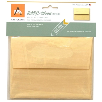 Arc BIRCH WOOD ENVELOPES A2 ARCBW56