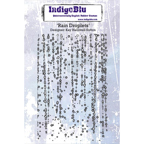 IndigoBlu Cling Stamp RAIN DROPLETS Rubber IND0199PC Preview Image