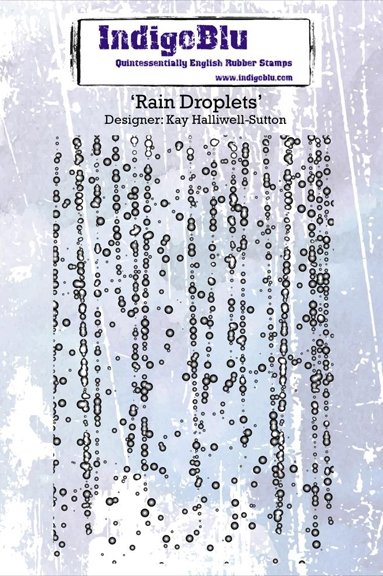 IndigoBlu Cling Stamp RAIN DROPLETS Rubber IND0199PC zoom image