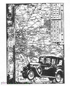 Tim Holtz Cling Rubber ATC Stamp CAR Stampers Anonymous COM013 Preview Image