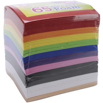 Creative Hands RAINBOW COLORS Peel And Stick Foam Sheets 1593259E