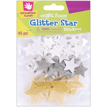 Creative Hands GLITTER STARS Foam Stickers 7531E
