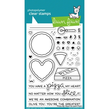 Lawn Fawn PIZZA MY HEART Clear Stamps LF1018