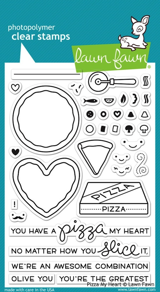 Lawn Fawn PIZZA MY HEART Clear Stamps LF1018 zoom image