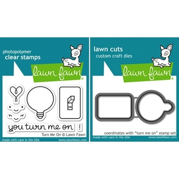 Lawn Fawn SET LF15SETTMO TURN ME ON Clear Stamps and Dies