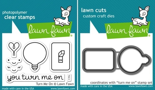 Lawn Fawn SET LF15SETTMO TURN ME ON Clear Stamps and Dies zoom image