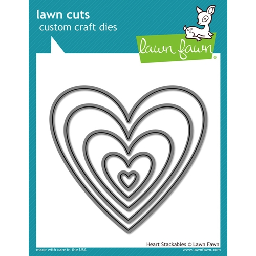 Lawn Fawn HEART STACKABLES Lawn Cuts LF1024 Preview Image