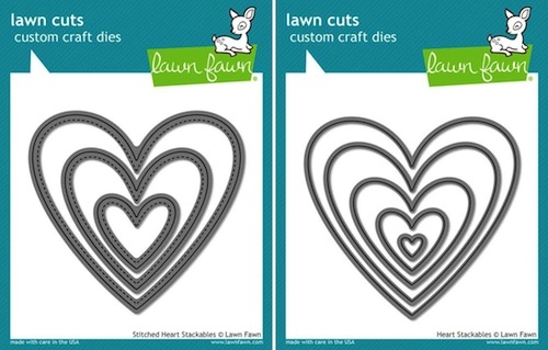 Lawn Fawn SET LF15SETHEARTS HEART STACKABLES Lawn Cuts Preview Image