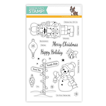 Simon Says Clear Stamps RETRO CHRISTMAS SSS101591