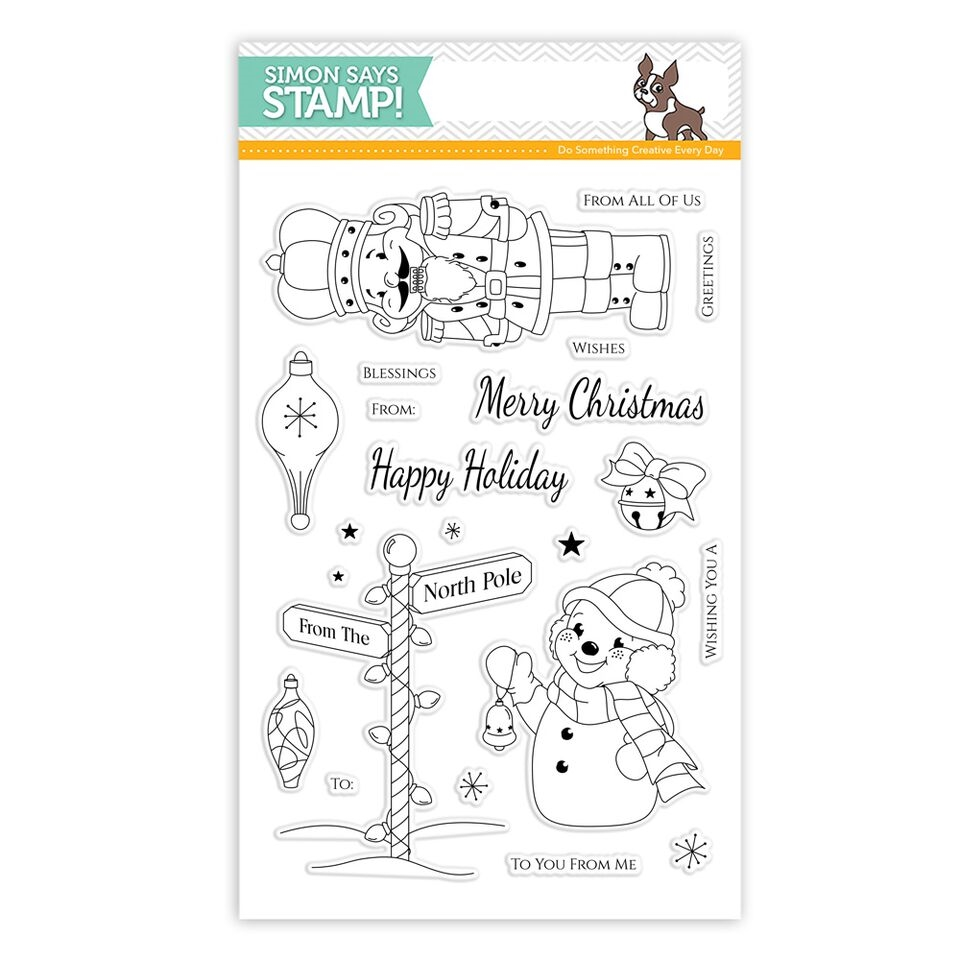 Simon Says Clear Stamps RETRO CHRISTMAS SSS101591 zoom image